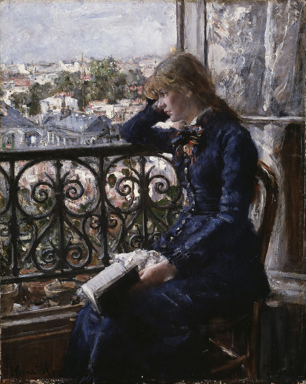 Hans Heyerdahl – Ved vinduet (By the Window, 1881)